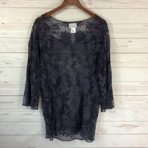Soft Surroundings Embroidered Tunic Cover Up Sm